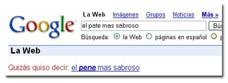 Google quiso decir…