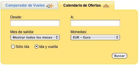 Calendario de ofertas